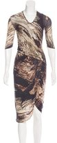 Helmut Lang Abstract Print Wool Dress