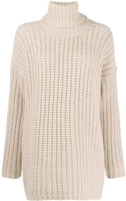 Incentive! Cashmere waffle-knit turtleneck jumper