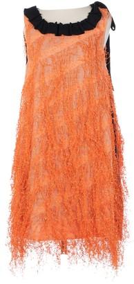 Fendi Orange Polyester Dresses