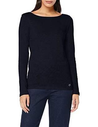 Marc O'Polo Women's 907226152199 Longsleeve T - Shirt, Midnight Blue 812, S