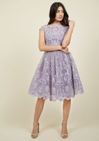 Exquisite Elegance Lace Dress in Lavender in 4