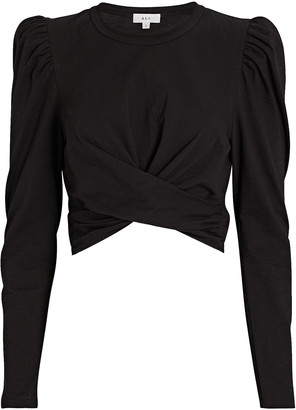 A.L.C. Mandy Wrap Cotton T-Shirt