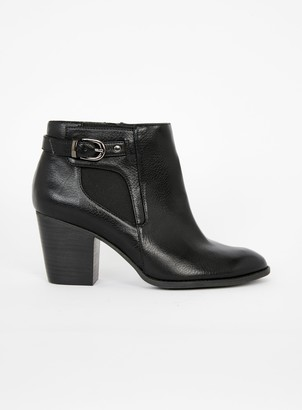 Evans EXTRA WIDE FIT Black Elastic Side Chelsea Boots