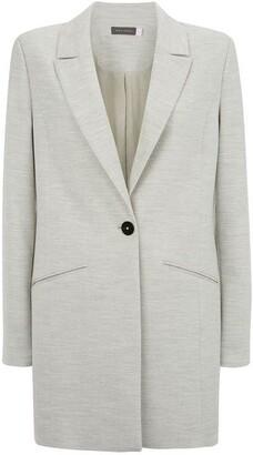 Mint Velvet Silver Grey Longline Blazer