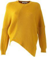 Stella McCartney Yellow Ribbed Knit Wool Sweater