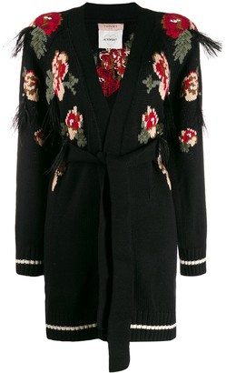 Twin-Set Floral Intarsia Cardigan