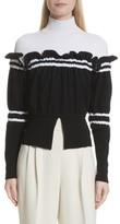 3.1 Phillip Lim Women's Ruffle Overlay Knit Turtleneck