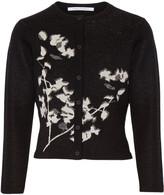 Diane von Furstenberg Anisa metallic intarsia wool-blend cardigan