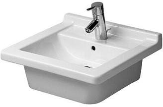 Philippe Starck Duravit 3 Furniture Bathroom Sink Duravit Faucet Drillings: Single Hole