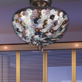Dale Tiffany Dale TiffanyTM Multi-Color Luxor Flush Mount