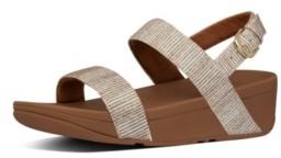 FitFlop Women's Lottie Glitter Back-Strap Wedge Sandal Women's Shoes