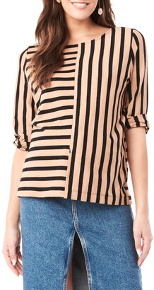 Loyal Hana Tory Stripe Maternity/Nursing Shirt