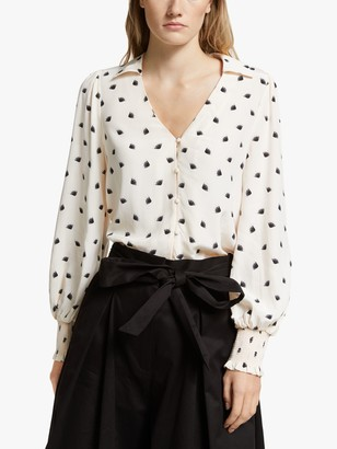 Somerset by Alice Temperley Fan Blouse, Ivory