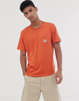 Element basic pocket t-shirt in orange