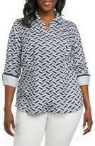 Foxcroft Taylor Chevron Non Iron Cotton Shirt