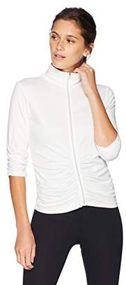 Calvin Klein Women's 3/4 Sleeve Rouched Compression Jacket