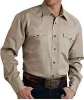 Roper Western Shirt Mens L/S Snap Solid 2XL Tan 03-001-0265-1126 TA