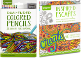 Crayola Inspired Escapes Coloring Book & Dual-Ended Colored Pencil Set