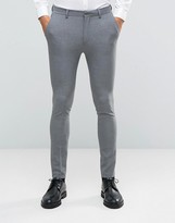 Asos WEDDING Super Skinny Suit Pants In Gray