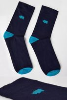 Yours Clothing BadRhino Plus Size Mens Socks With Blue Contrast Heel & Toe