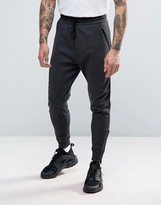 Pull&Bear Skinny Joggers In Dark Gray