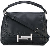 Tod's 'Double T' shoulder bag - women - Leather/Nylon - One Size