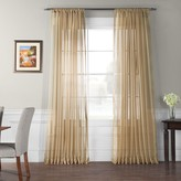 Eff EFF 1-Panel Solid Sheer Voile Double-Wide Window Curtain