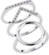 Kenzo 24909110805 Sterling Silver And CZ Ring
