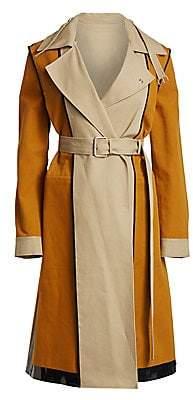 Proenza Schouler Women's Bonded Cotton Trench Coat - Size 0