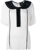 Class Roberto Cavalli embellished collar blouse - women - Viscose - 40