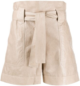 Drome Paperbag Waist-Tied Shorts