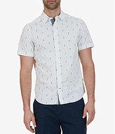 Nautica Anchor Print Short-Sleeve Woven Shirt