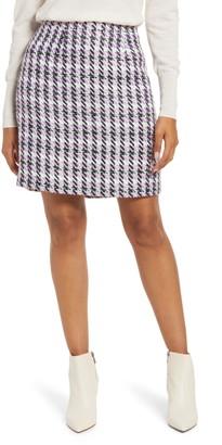 Halogen Tweed Miniskirt