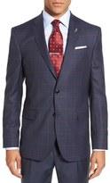 Ted Baker 'Jay' Trim Fit Windowpane Plaid Wool Sport Coat