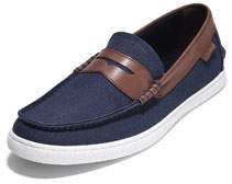 Cole Haan Men's Nantucket Canvas Penny Loafers, Blue