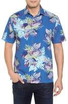 Tommy Bahama Fronds Bouquet Classic Fit Silk Blend Sport Shirt