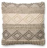 Magnolia Home By Joanna Gaines Magnolia Home Joslin 22-Inch Square Throw Pillow in Grey/Ivory