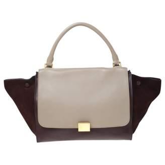 Celine Trapeze Burgundy Suede Handbags
