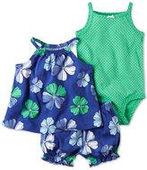 Carter's 3-Pc. Halter Top, Dot-Print Bodysuit & Bubble Shorts Set, Baby Girls (0-24 months)