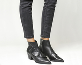 Office Luscious Ruffle Ankle Boots