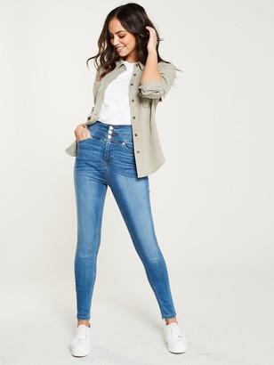 Very Macy High Waisted Skinny Jean - Mid Wash