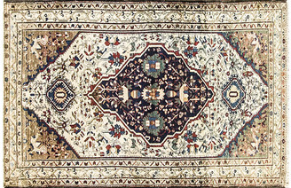 "One Kings Lane Vintage Antique Persian Malayer Rug - 4'3"" x 6'7"" - Eli Peer Oriental Rugs - ivory/multi"