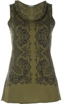 Alexander McQueen floral print tank top - women - Cotton - 38