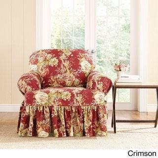 Sure Fit Sure-Fit Ballad Bouquet Armchair T-Cushion Skirted Slipcover