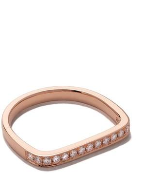 As 29 18kt rose gold Mini Charm diamond ring