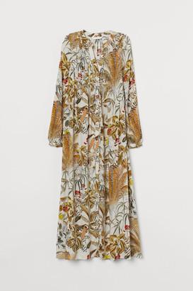 H&M MAMA Smock-detail Dress - Beige