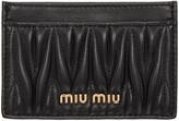 Miu Miu Black Matelassé Cardholder