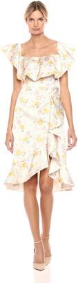 AMUR Women's Lemon Floral Dress