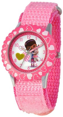 Disney Girl' Diney Doc Mctuffin tainle teel Time Teacher Watch - Pink