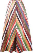 Rosie Assoulin rainbow stripe A-line skirt